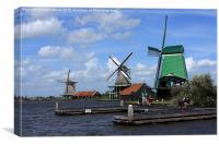 Three Windmills , Canvas Print