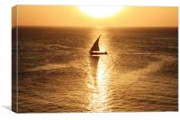 African Dhow At Sunset , Canvas Print