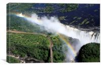 Rainbow Over Victoria Falls  , Canvas Print