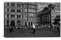 Dam Square Amsterdam , Canvas Print