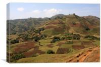 Guge Mountain Range, Ethiopia, Canvas Print