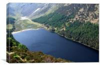 Upper Lake At Glendalough, Wicklow , Canvas Print