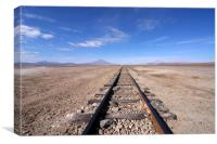 Train Tracks In The Desert , Canvas Print