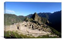 Machu Picchu Citadel, Peru, South America , Canvas Print