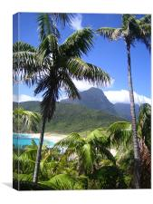 Blinky beach, Lord Howe Island, Canvas Print