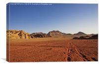 Desert crossroads, Canvas Print
