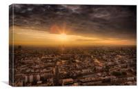 Berlin sunset, Canvas Print