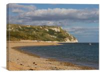 White Nothe and Ringstead Bay, Dorset, UK, Canvas Print