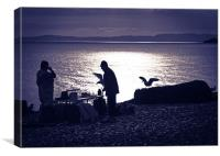 The Fish Seller, Canvas Print