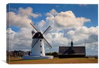Bright summer clouds over Lytham, Canvas Print