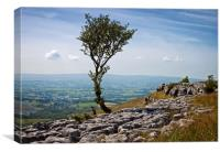 View from the edge of the scar, Canvas Print