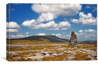 Summer Clouds over Whernside, Canvas Print
