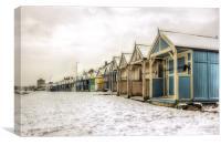 Herne Bay winter beach huts