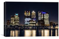 London Skyline at night, Canvas Print