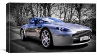 Aston martin V8 Vantage, Canvas Print