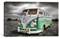 Classic VW Camper Van, Canvas Print