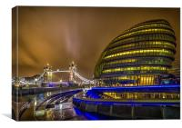 Tower Bridge and the Armadillo, Canvas Print