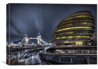 Tower Bridge and the City Hall, Canvas Print