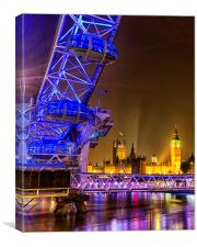 London Eye & Big Ben, Canvas Print