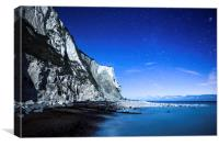 White Cliffs of Dover on a Starry Night, Canvas Print