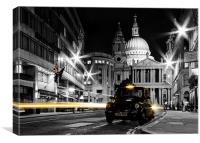 St pauls with Black Cab, Canvas Print