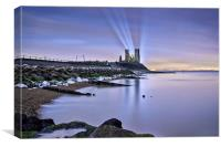 Reculver Towers at Night., Canvas Print