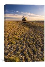 lone boat on Dungeness beach, Canvas Print