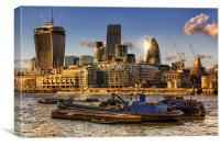 London City Skyline, Canvas Print