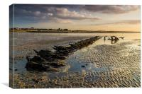 """Minnis bay - wreck of """"The Hero"""", Canvas Print"""