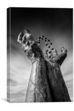 Ramsgate - Hands and Molecule, Canvas Print