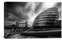 London City Hall and Tower bridge. , Canvas Print