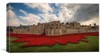 Tower of London Remembers. , Canvas Print