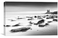 Reculver - long exposure., Canvas Print