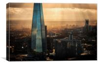 View of the Shard, Canvas Print
