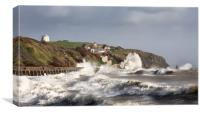Folkestone and Storm Imogen , Canvas Print