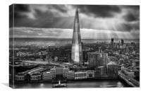 London from the Sky Garden, Canvas Print