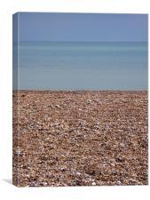 Hythe Beach, Canvas Print