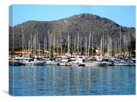 Alcudia Harbour, Canvas Print