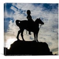 Royal Scots Greys Statue, Canvas Print