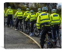 Bike Patrol, Canvas Print