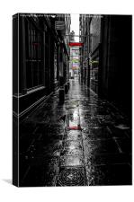 Rainy Lane on Sunday, Canvas Print