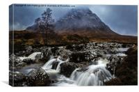 Stob Dearg from Glen Etive, Canvas Print