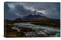The Cuillins and the River Sligachan, Skye, Canvas Print