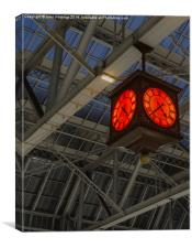 Central Station Clock, Canvas Print