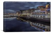 The Broomielaw by night, Canvas Print