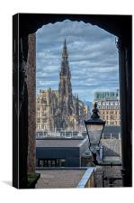 The Scott Monument, Edinburgh, Canvas Print