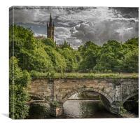 Glasgow University, Kelvingrove, Canvas Print
