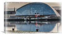 PS Waverley at the Glasgow Science Centre, Canvas Print