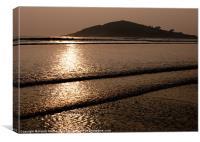 Burgh Island Sunset, Canvas Print