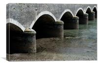 Looe Bridge Arches, Canvas Print